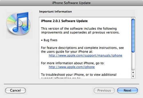 iPhone 2.0.1