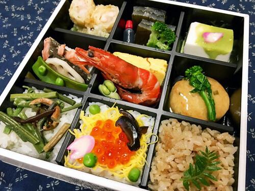 越中料理「五万石 千里山荘」の「剣-九彩弁当-」
