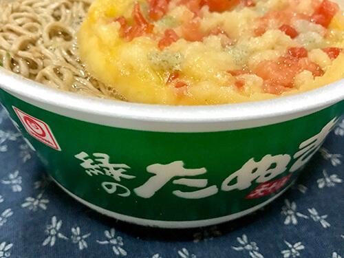 緑のたぬき蕎麦