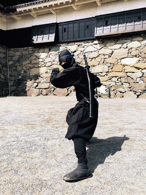 松本城の忍者