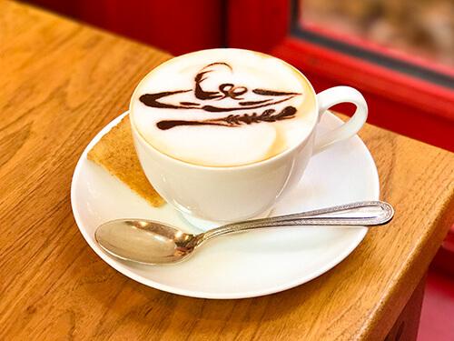 ふわふわミルク入りコーヒー