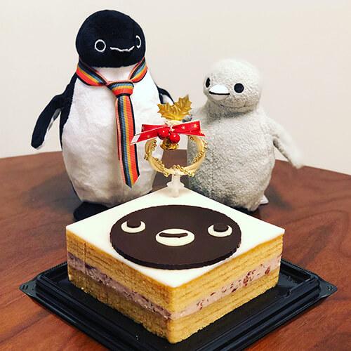 金澤萬久「まめやのクリスマスケーキ Suicaのペンギン」